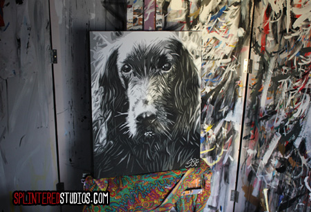 Oscar Dog Painting