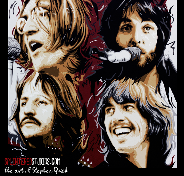 The Beatles Let It Be Painting