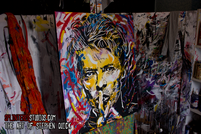 David Bowie Spray Graffiti Painting