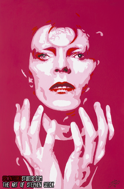 Bowie Ziggy Stardust Painting
