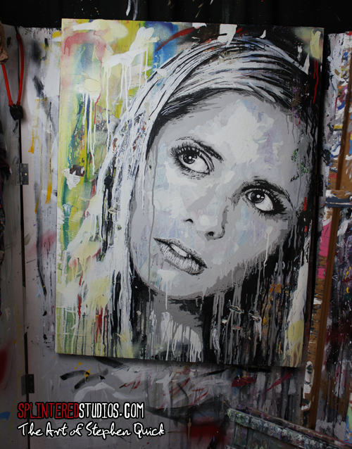 Sarah Michelle Gellar Art Painting