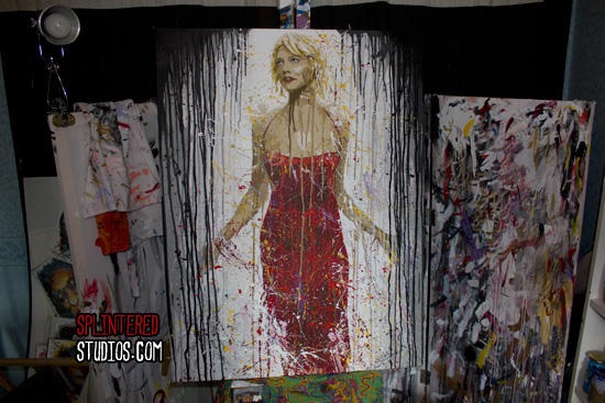 Caprica 6 Pop Art Painting