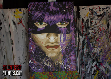 Hit Girl Kick Ass 2 painting