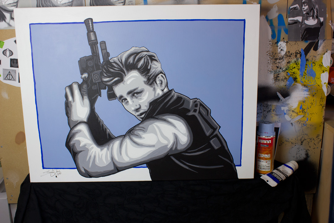 James Dean Solo - Star Wars Mash Up Painting