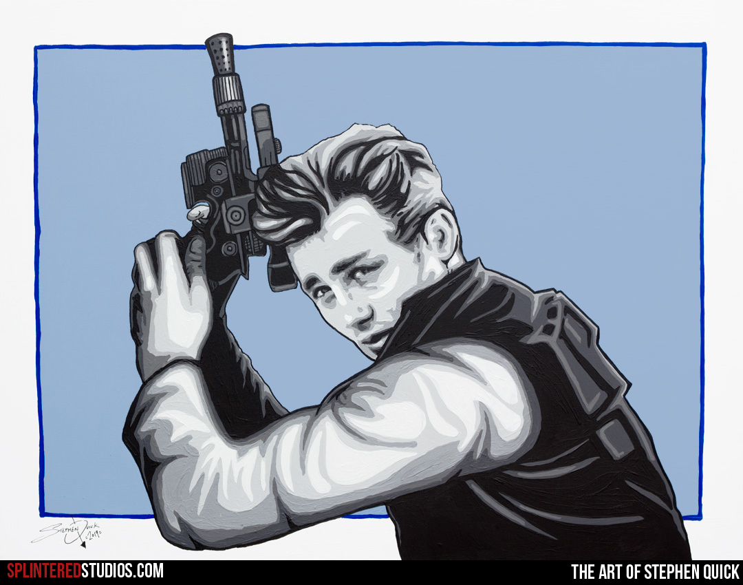 James Dean Solo - Mash Up Painting