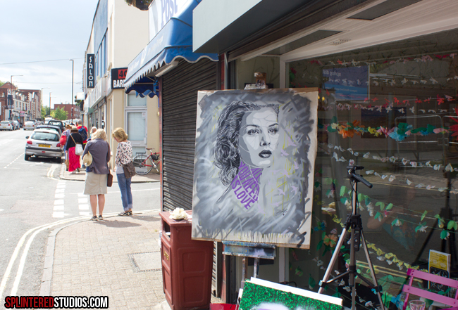 Miss Bristol Painting Live Margot Mays