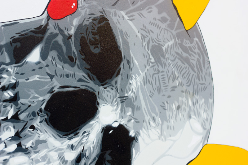 Pokemon GOne Skull Satire Painting