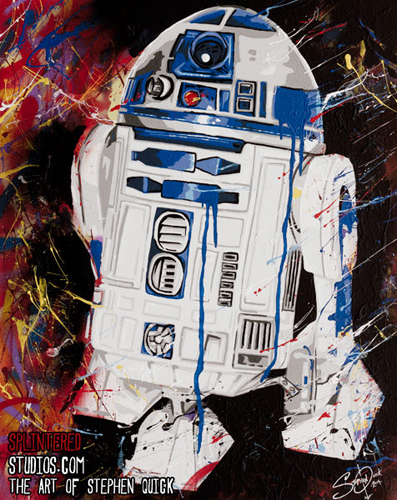 R2D2 Star Wars  Painting