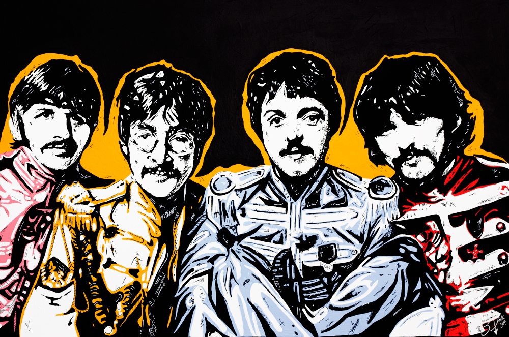 The Beatles Sgt Peppers Painting