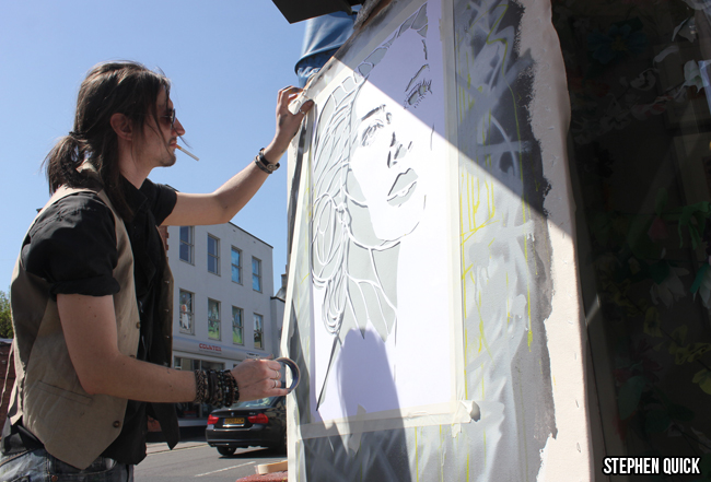 Stephen Quick Live painting