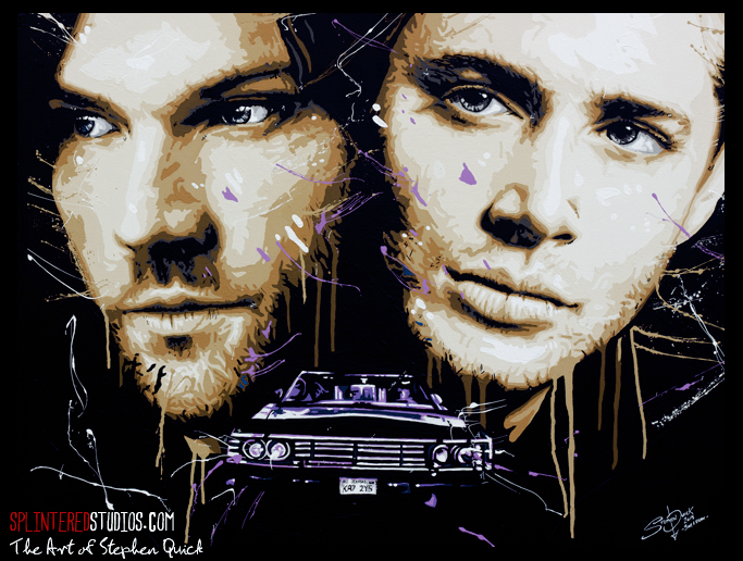 Supernatural Sam and Dean Painting