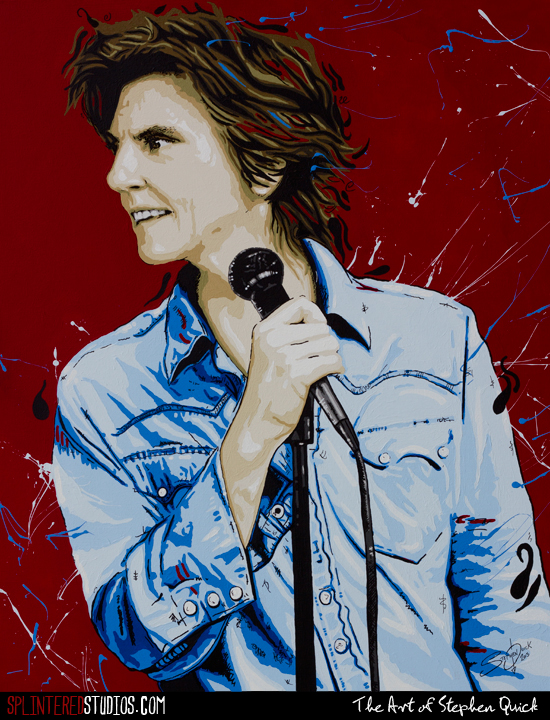 Tig Notaro Painting by Stephen Quick