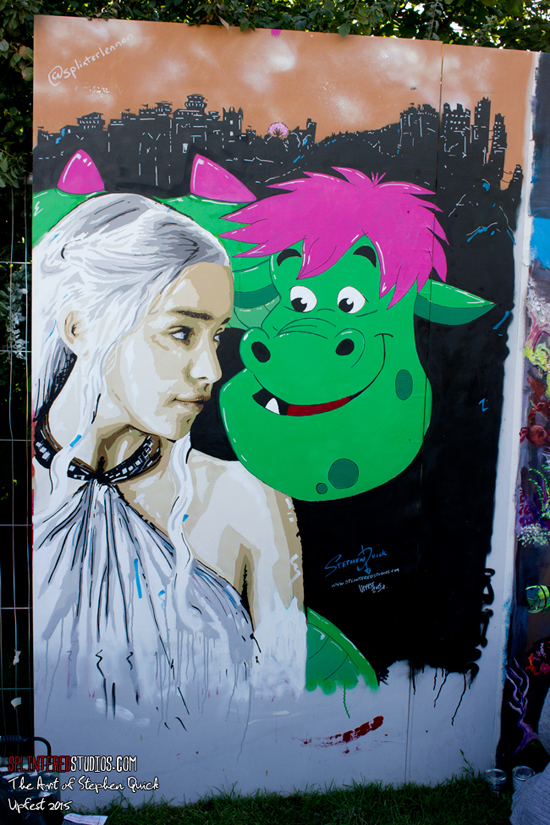 Upfest 2015 Daenerys & Pete painting Stephen Quick