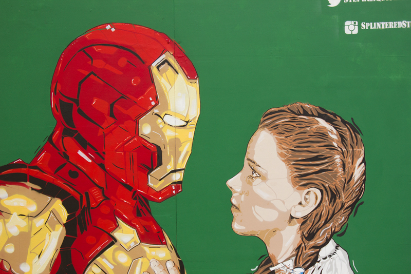 Upfest 2016 - Iron Man / Wizard Of Oz Art