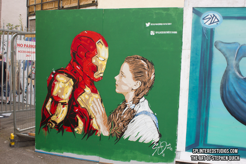 Upfest 2016 - Iron Man / Dorothy Wizard Of Oz Art