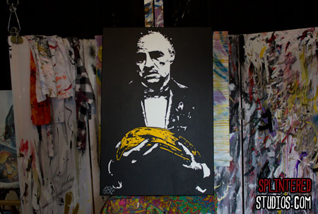 Banana Godfather Painting