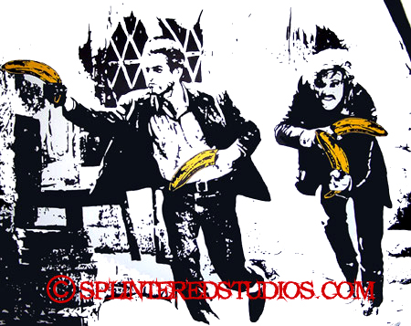 BUTCH CASSIDY AND THE  SUNDANCE BANANA KID painting