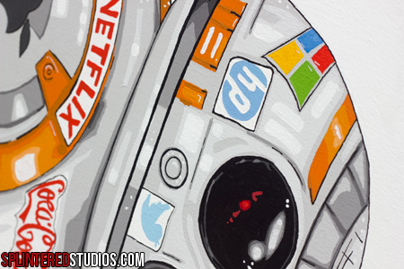 BB-8 painting detail