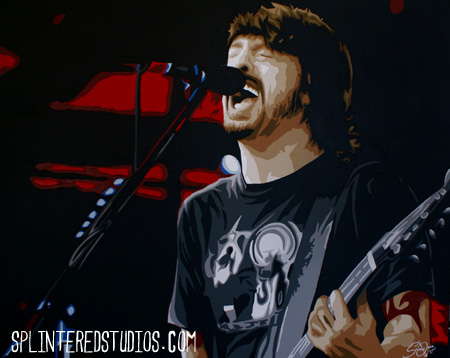 Foo Fighters Dave Grohl painting