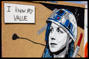 I Know My Value Mural