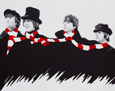Beatles 'Scarf' Painting