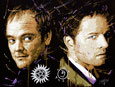 castiel and crowley painting
